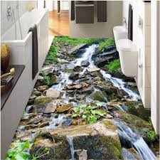 Beibehang Custom Paste 3D Outdoor Mountain Streams Pebble Landscape Tiles Three Dimensional Painting Bathroom Kitchen Stickers In Wallpapers From Home