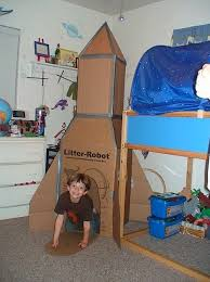 Cool Cardboard Rocket Ship