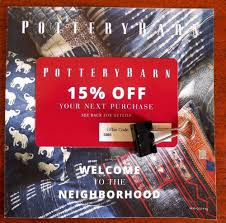 POTTERY Barn COUPON 15% 15 OFF Percent OFFER Promo DEAL ...