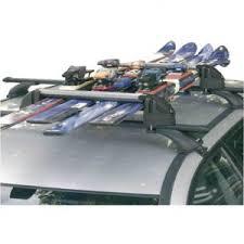 porte skis basique surélevé sur barres de toit car id fr