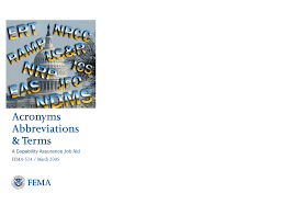 Disa Dccc Help Desk by Fema Acronyms Abbreviations And Terms