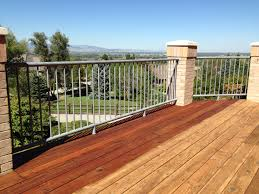 Runnen Floor Decking Outdoor Brown Stained by Boodge Deck Stain In Redwood Half Stained Best Deck Stains