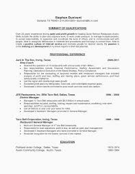 Resume Example Marketing Objective Statements Restaurant Manager Full Size Of