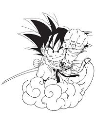 Cartoon Dragon Ball Goku Coloring Page