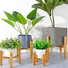 holz vier legged vase blumentopf slip halterung wohnzimmer