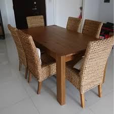 Dining Table And 6 Rattan Chairs, Furniture, Tables & Chairs ...