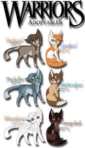 warrior cat names warrior cat adoptables 1 4 by brizzadoptsxx on deviantart