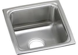 elkay elkay lustertone stainless steel 15 x 15 x 5 1 2