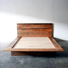 Reclaimed Wood Platform Bed Barn Frame Modern Lodge Furniture Industrial Loft Decor Rustic Cabin Chic Furnishing