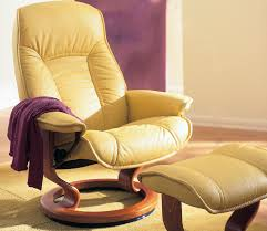 EKORNES STRESSLESS CHAIR AND FOOTSTOOL In Truro