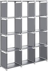 songmics würfelregal 12 würfel bücherregal diy organizer für ankleidezimmer aufbewahrungsregal im wohnzimmer kinderzimmer badezimmer 105 x 30 x