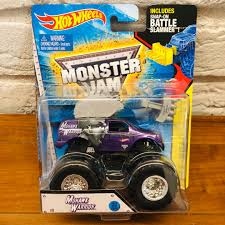 100 Monster Truck Tickets 2014 Hot Wheels Jam Mohawk Purple Limited Toys Games