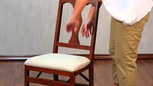 Stakmore Folding Chair Vintage by How To Set Up Stakmore Folding Chairs Youtube