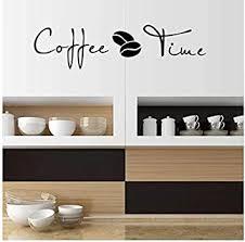 kaffee zeit cafe wandaufkleber sprichwort englisch