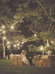 Adding Country Elements Like Haystacks And Hanging Lantern Lights Make A Wedding Look Fabulous Very Rustic