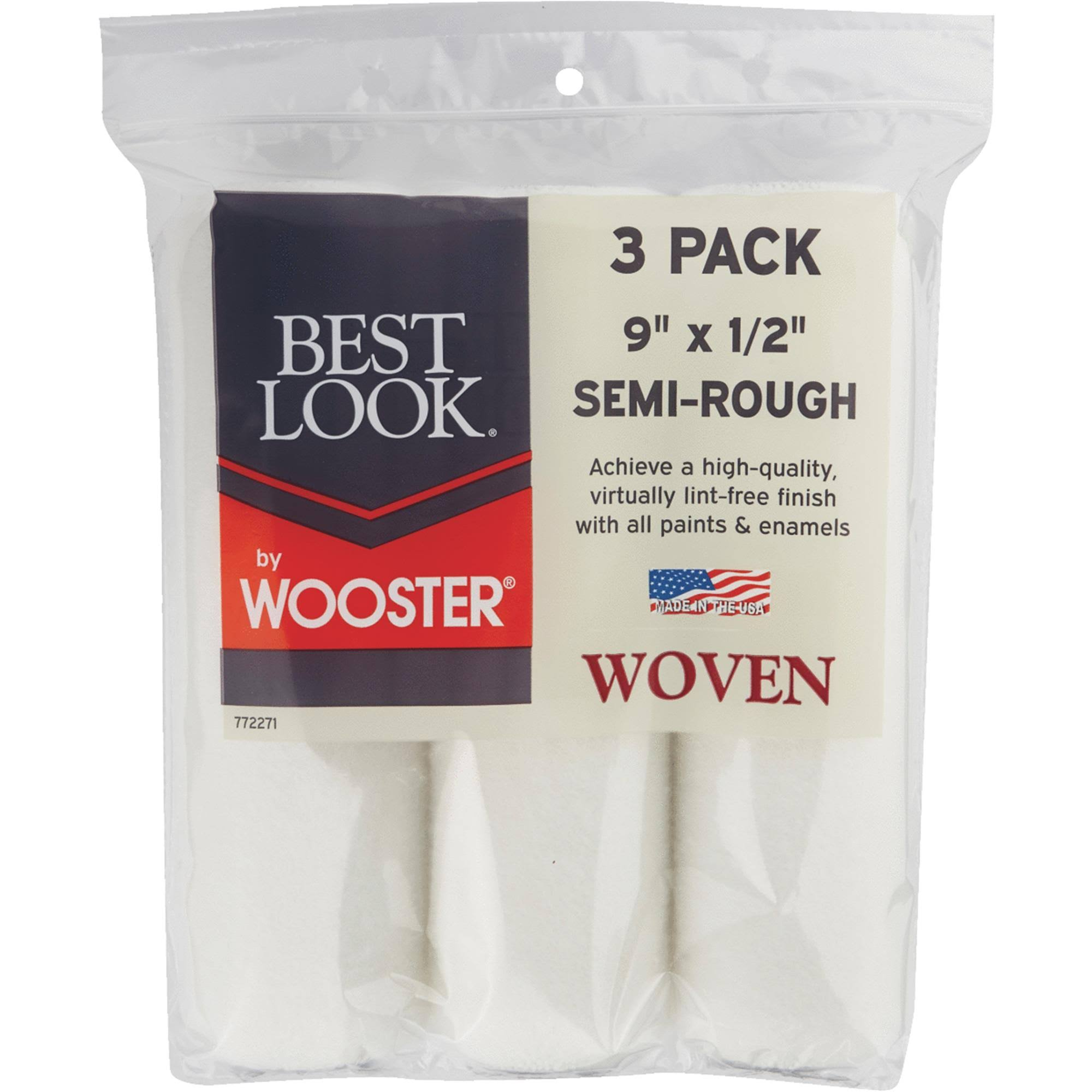 Wooster Brush 3 Pack 9x1/2 Woven Cover DR464-9