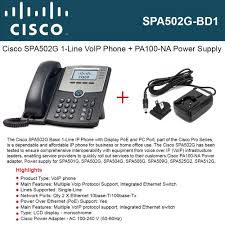 Cisco IP Phone SPA502G 1-Line With PoE Port + Power Supply PA100-NA 5V 4 Port 100mbps Ieee8023af Poe Switchinjector Power Over Ethernet Cisco Spa504g 4line Poe Voip Ip Phone With Stand And Power Supply Obihai Obi110 Voice Service Bridge Telephone Adapter By Phones Voys Full Review Yealink T42g Netxl Amazoncom Obihai Obi1022 Supply Up To 10 Cp8845 Ip 8845 Voip Sip 2 Phones Sipt21pe2 Line Iopower Wifi Sip Systems Modesto Ca Circuit Saviors