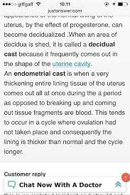 Uterus Lining Shedding Between Periods by Decidual Casts Glow Community