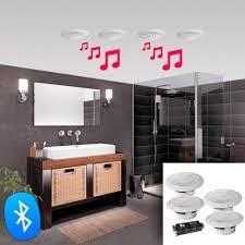 set 4 wasserdichte decke lautsprecher 160w bluetooth e audio b403bl