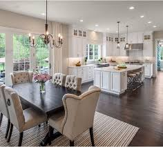 Love This Open Concept Kitchen Table In Living Room Rugs For Dining Curtains