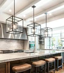 modern lighting for kitchen island cube cage lighting complete