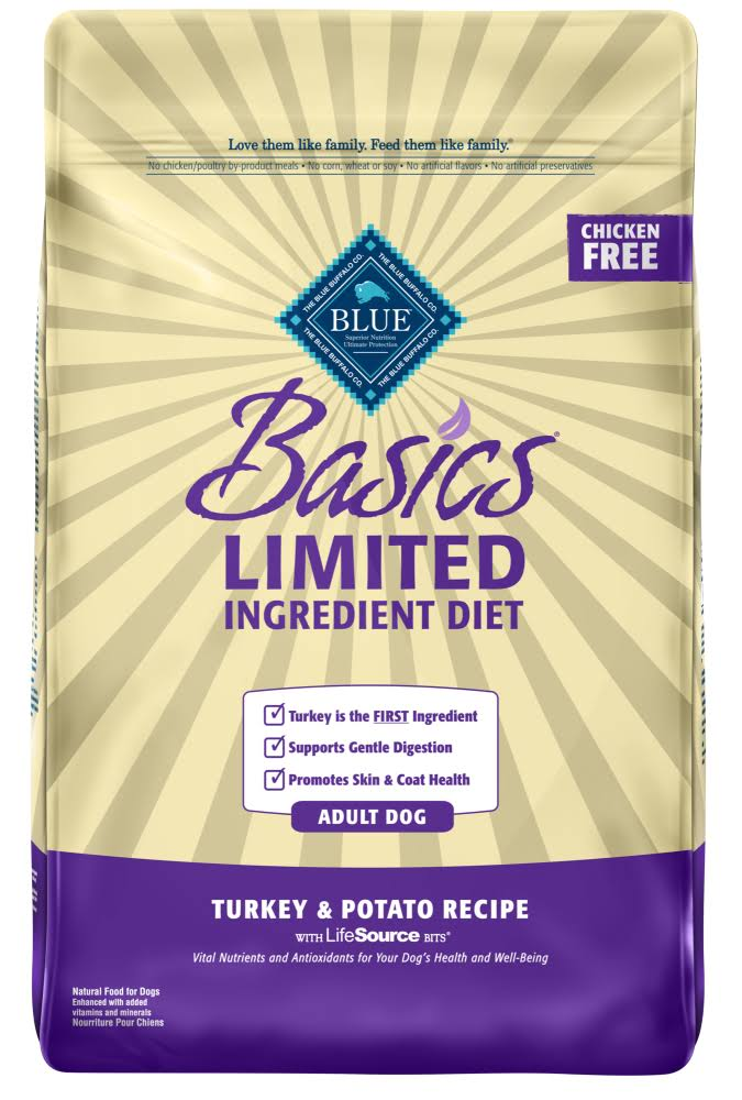 Blue Buffalo Basics Limited Ingredient Grain Free Adult Dog Food - Turkey & Potato, 4 lbs