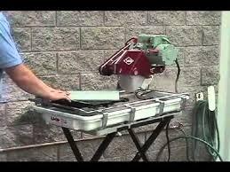 Mk Tile Saw Blades by Mk 101 Tile Saw Demonstration Video Youtube