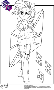 Rarity In Equestria Girls Coloring Page My Little Pony