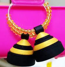 Paper Quilling Jewellery Designs Elegant Black And Golden