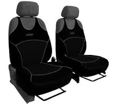 housse siege avant voiture 2 black front car seat covers sport for toyota iq ebay