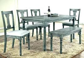 Grey Kitchen Table Whitewash Gray And White Dining Washed Wash Modern Collection Extending