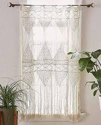 flber makramee vorhang makramee wandbehang handgewebt boho hochzeits hintergrund küchenvorhänge 127 cm b x 185 cm h makramee vorhang2