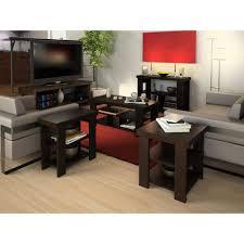 larkin coffee table sofa table end table value bundle espresso