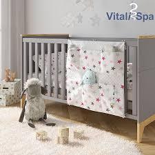 vitalispa bett organizer rosa utensilo kinderzimmer babybett tasche 60 x 60 cm