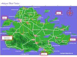 Curtain Bluff Antigua Map by Antigua Circumnavigation Sailing Vacation Cruising Around The