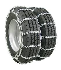 Glacier V-Bar Snow Tire Chains With Cam Tighteners For Dual Tires ...