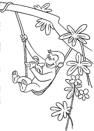 Curious George Coloring Pages To Print Printable Bestofcoloring Line Drawings
