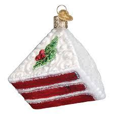 Red Velvet Cake Ornament Glass Ornaments Food Pinterest