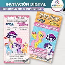 My Little Pony Invitación Digital Personalizada