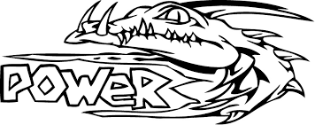 Printable Power Of Alligator Coloring Page 300x119