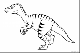 Excellent Velociraptor Dinosaur Coloring Pages With Color And Free Printable