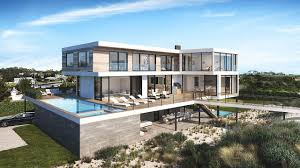 100 Modern Hiuse House On An Oceanfront Plot In The Hamptons With A Private