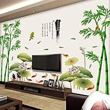 chinesischer wind große bambuswand zimmer schlafzimmer