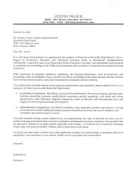Elementary School Principals Cover Letter Example