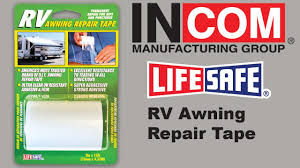 LIFE SAFE Awning Repair Tape - YouTube Awning Home Rubber Roof Plumb Craft Waxman Pipe By Clean Incom Rv Fabric Repair Kit Tape S Vinyl Or Pop Up Camper Redo Canvas Repairtear Step 5 Yellowwickerchair Aue Dometic Twostep Thegeeks How Jacksonville Fl Best Ideas Cellar Parts Breakdown Replacement Arms Canopy Magnuslindcom Type A Sailrite Tearaid Part Itructions I Used This And Installing Windows In X Ft Princess