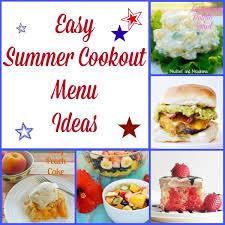 Easy Summer Cookout Menu Ideas