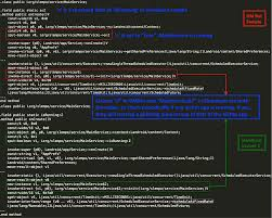 Figure 4 Class MainService for GM Bot and SlemBunk