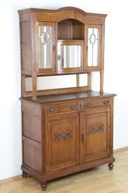details zu antikes buffet jugendstil anrichte spiegeltüren eiche massiv esszimmer original