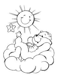 Printable Care Bear And Sun Coloring Pages To Print