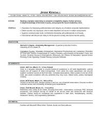Internship Resume Sample For College Students Best Of How To Write Objective Resumes